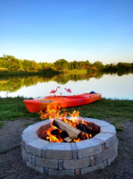 Kayak and Fire Pit