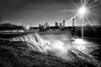 Sunset at Niagara B&W